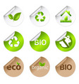 eco stickers vector image vector image