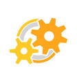 engineer cog wheels setup symbol logo design vector image vector image
