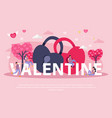 flat love couple composition vector image vector image