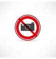 forbidden to take pictures icon vector image vector image