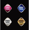 Free trial label set vector image vector image