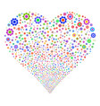 gear fireworks heart vector image vector image