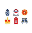 great britain national symbols united kingdom vector image