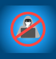 hacker warning theme image vector image vector image