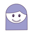 head girl happy expression vector image