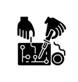 hobby electronics black glyph icon vector image vector image