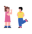 kindergarten kids bullies and naughty flat cartoon vector image vector image