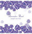 Lavender color flowers Card Border vector image vector image