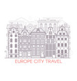 line europe city landscape vector image