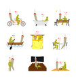 lover joint or spliff set addict on picnic man vector image vector image