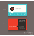 Modern trendy business card design vector image vector image