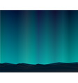 mountain northern landscape night with aurora vector image