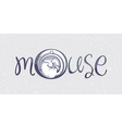 Mouse logo drawn vector image vector image