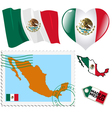 national colours of Mexico vector image