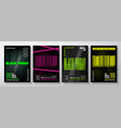 neon black friday typography banners posters or vector image