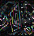neon bright geometric seamless pattern vector image
