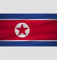 north korea flag flag of north korea blowig in vector image