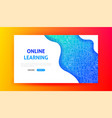 online learning landing page vector image vector image