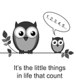 OWL LITTLE THINGS vector image vector image