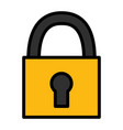 padlock security on white background vector image vector image
