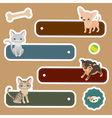 Pets label vector image vector image