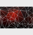 red brown black geometric background with mesh vector image vector image
