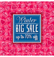 red christmas background and label with sale offer vector image