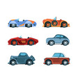 retro cars old style vehicles urban vector image