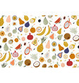 seamless with fruits on white background vector image