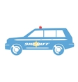 Sheriff car flat design vector image