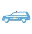 Sheriff car flat design vector image vector image