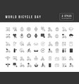 simple icons world bicycle day vector image vector image