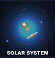 solar system concept scene vector image vector image