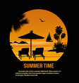 summer time theme poster design vector image