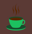 sweet dessert in flat design cup of coffee vector image