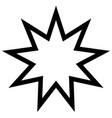 symbol bahai star of nine angles nine vector image vector image