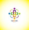 Teamwork logo design concept vector image vector image