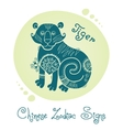 Tiger Chinese Zodiac Sign vector image vector image