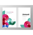 Transparent circle composition on business annual vector image vector image