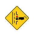 usa traffic road signs fire truck entrance ahead vector image vector image