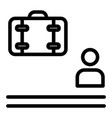waiting for baggage line icon man and luggage vector image