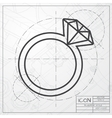 wedding ring icon vector image vector image