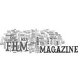 what you didn t know about fhm magazine text word vector image vector image