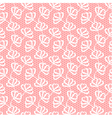 White seamless floral pattern on pink background vector image