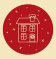 winter house icon in thin line style vector image vector image