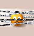 yellow emoji sad christmas ball and quarantine vector image vector image