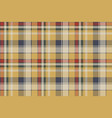 yellow plaid check fabric texture seamless pattern vector image