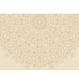 Vintage floral background in ethnic style vector image