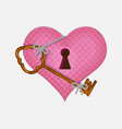 heart and key to open his vallentine day vector image