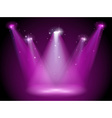 A purple stage vector image